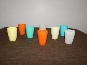 "VINTAGE KITCHEN 8   3"" HIGH STERI-LITE USA PLASTIC JUICE CUPS"
