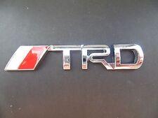 TRD Badge Emblem Sticker  Metal Silver Logo fits Toyota 3D Yaris Corolla S120