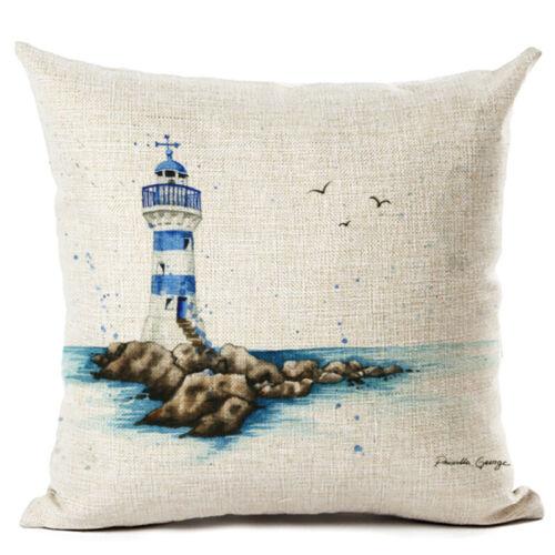 Ocean Animal Sea Horse Cushion Cover Throw Pillow Case Cotton Linen Home Decor