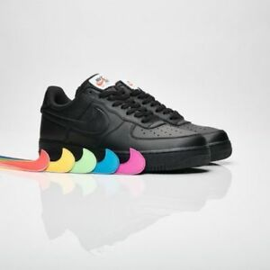 Nike Air Force 1 07 QS All Star Swoosh Pack Black AH8462-002 Men ... 17462e6f6