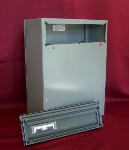 Innentür Renz Briefkasten Set grau 260 Einwurfklappe mit Namensschild KAH40