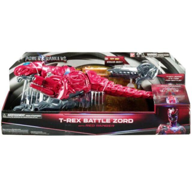 Power Rangers-T-Rex Battle Zord avec Red Ranger-Neuf