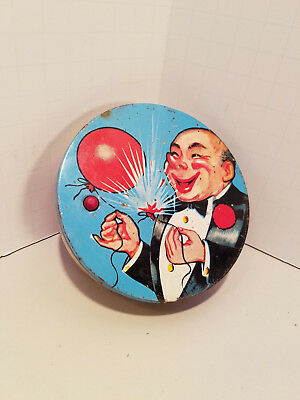 Vintage 1940's New Years Eve Tin Noise Maker Spinner Works Holiday & Seasonal
