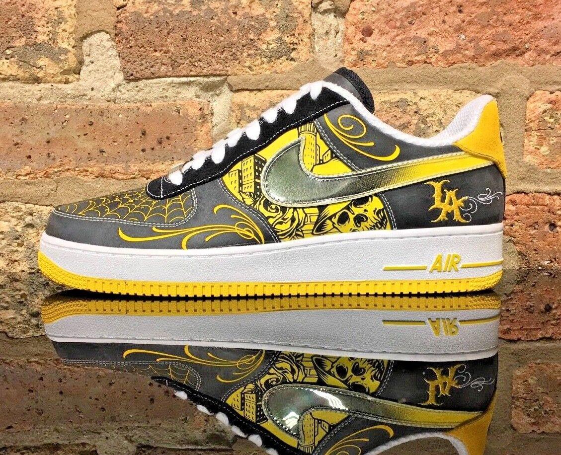Nike Air Force 1 Low  MR. CARTOON DS Men's Size 11 LA Black Yellow