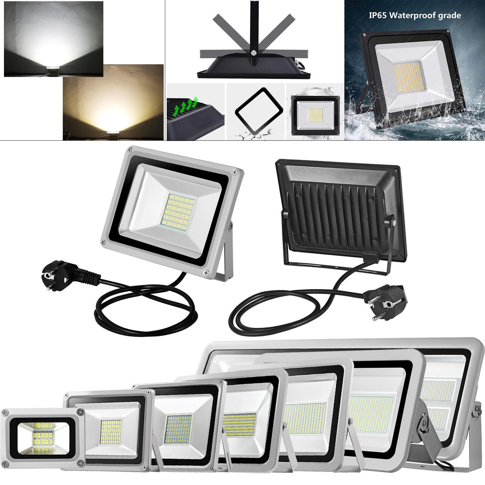 LED de 30w 50w 100w 1000w con enchufe detector de movimiento lámpara exterior emisor