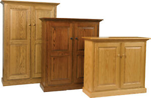 Solid-Wood-Raised-Panel-Double-Door-Bookcase-Pie-Safe-Pantry-Handcrafted