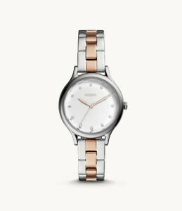 BNEW-FOSSIL-Laney-Three-Hand-Two-Tone-Stainless-Steel-Watch
