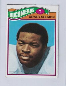 1977 Topps Mexican # 178 DEWEY SELMON Tamps Bay Bucs ...