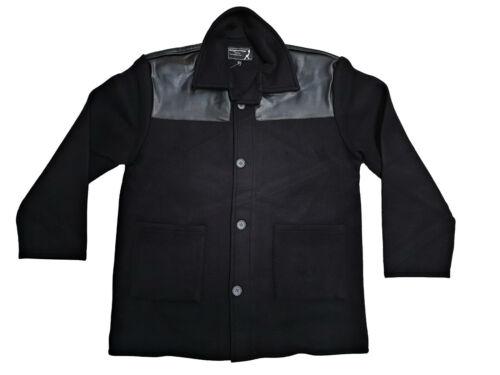 Donkey Jacket PVC Shoulders Heavy Wool Worker Skin Punk Mod Ska Oi Un-Lined