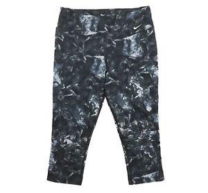 91a4a780b8f46 Nike Legend Womens Dri-Fit Running Leggings Sz L Poly Crop Printed ...