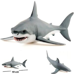Great White Shark Figure Realistic Hand Painted Kids Collectable Wildlife Toy