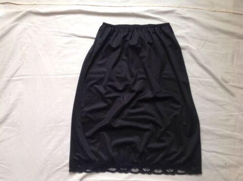 """Woman/'s Black half slip bonito faldón de encaje 14 18 20 22 longitud 23/"""" bnwtt"""