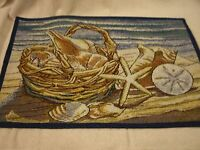 Set Of 4 Seashells Tapestry Placemats