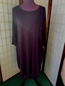 Zenana-Outfitters-Purple-Tunic-Dress-with-pockets-Size-Large-Scoop