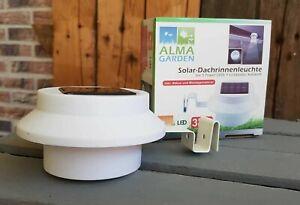 ALMA  2er Set Dachrinnenleuchte  LED Leuchten Solar kabellos Licht Lampen