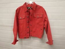 Harley Davidson Motor Clothes An American Legend Woman's Red Jean M Jacket