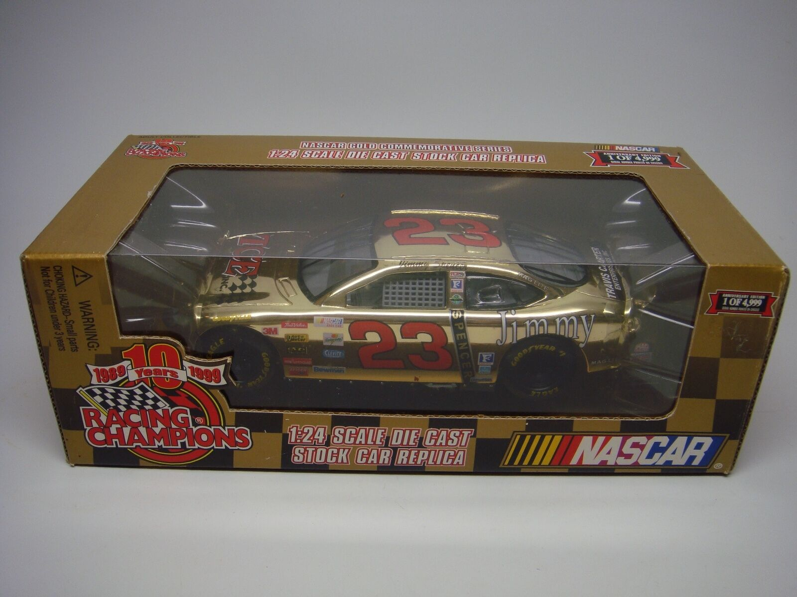 RACING CHAMPIONS-NASCAR-gold SERIES-(1989-1999 10 YEARS)- 24 SCALE