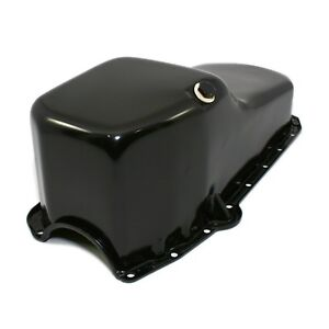 Stock-Capacity-Oil-Pan-Black-Painted-58-79-SBC-Small-Block-Chevy-327-350-400