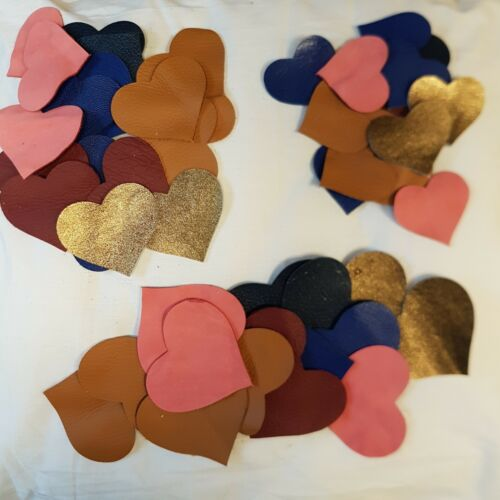 Leather Heart Shapes 3 sizes