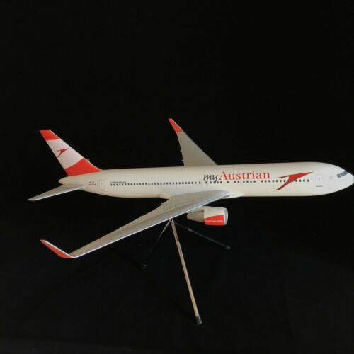 Solid 1//100 my Austrian Airlines Boeing B767-300 Winglets Airplane Model