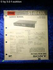 Sony Service Manual ST JX430L Tuner (#2048)
