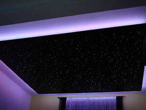 led sternenhimmel beleuchtung weiss 10 watt mit 530 lichtpunkten funkeleffekt ebay. Black Bedroom Furniture Sets. Home Design Ideas