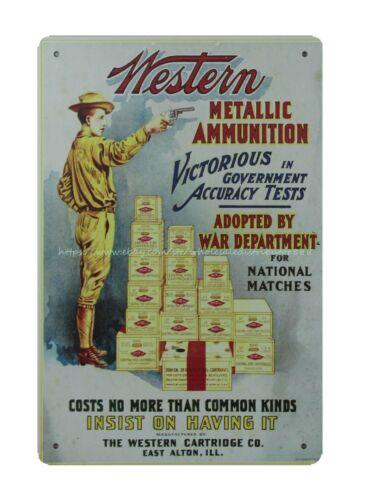 Western Metallic Ammunition metal tin sign retro retro signs