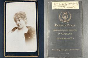 Karoli et Pusch, Warszawie, Wisnowska (Madame Marie), comédienne Vintage cdv alb