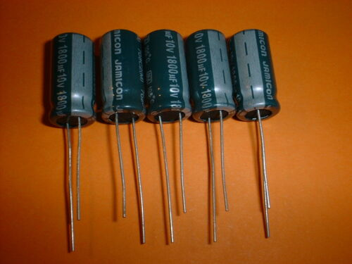 10V  105°C low ESR Jamicon RM 5mm 1800uF 5x Elko 1800µF