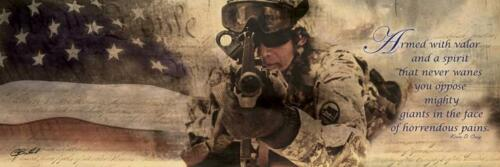 Armed With Valor by Jason Bullard Military Print 36x12