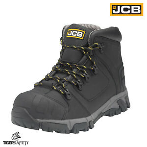 f3a3a4d535b Details about JCB X Series S3 SRC Black Heavy Duty Lightweight Aluminium  Toe Cap Safety Boots