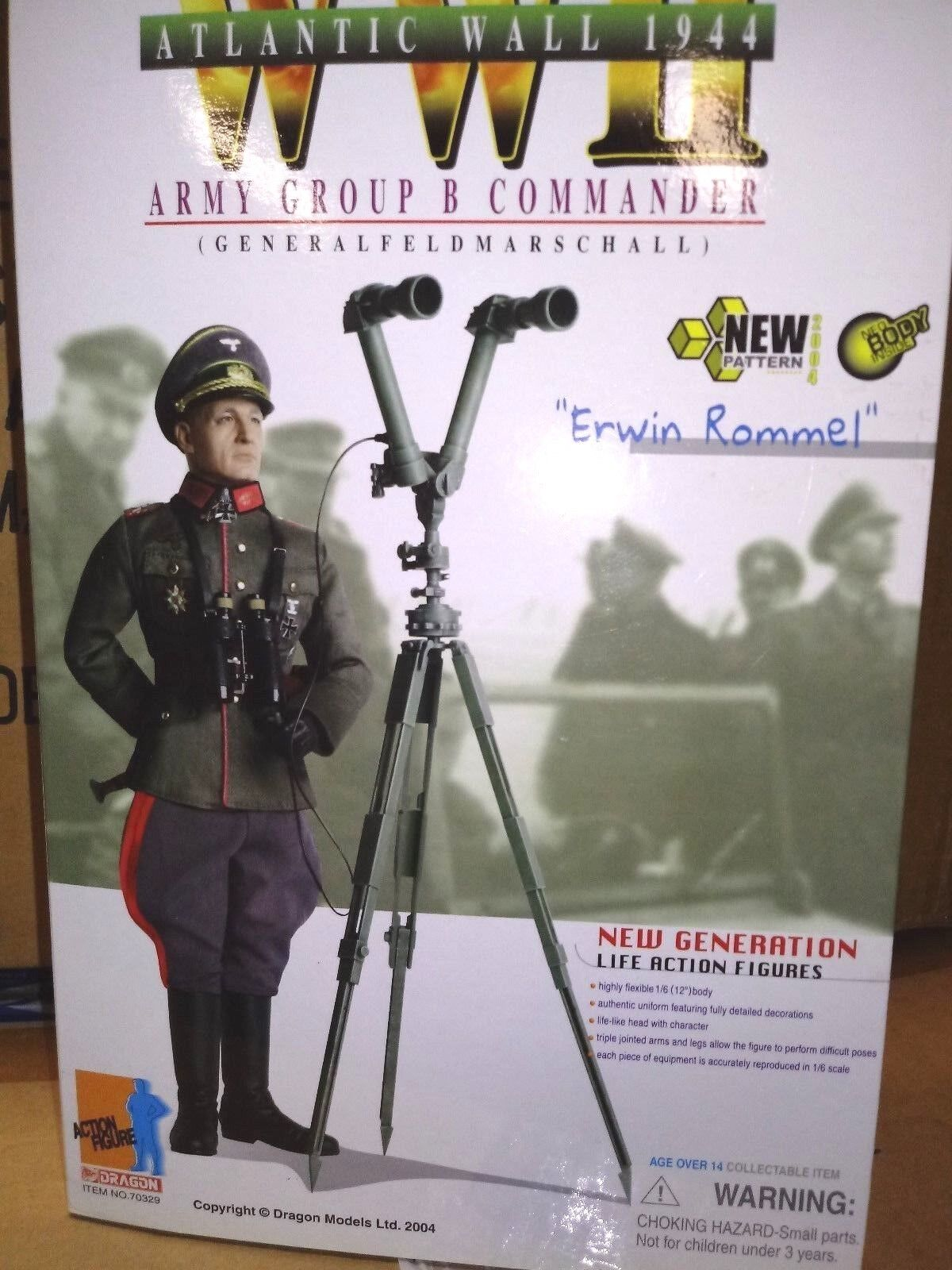 WW2 Feldmarschall  Erwin Rommel   1944 Europe 1/6
