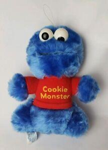 """Sesame Street PlaySkool 8"""" Cookie Monster Plush Rattle"""
