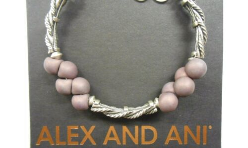 Alex and Ani Spirit Spiral Plum Bangle Bracelet New With Tag Box and Card