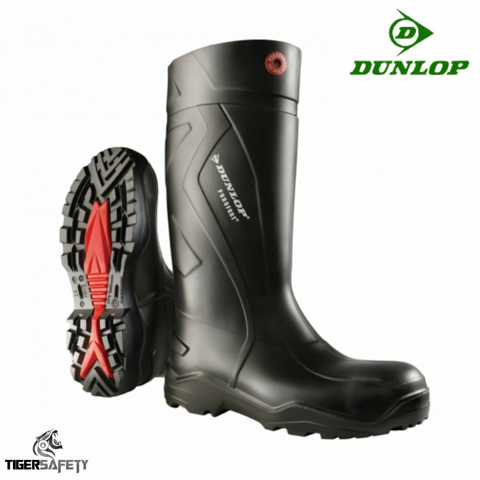 Dunlop Purofort + full safety s5 Insulated Black foamed PU light boots