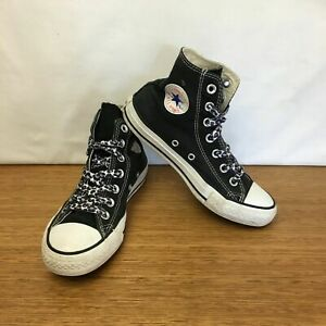 Details about Girls Converse All Star High Top Casual Lace Up Shoes Sneakers Black Size 5 3