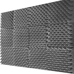12 Pack Egg Crate Soundproofing Acoustic Wedge Foam Tiles Wall