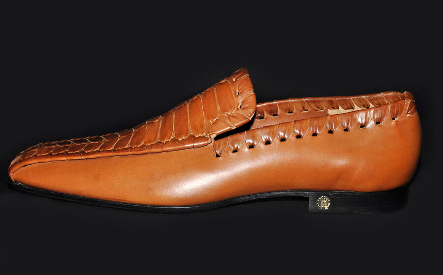 1,075 New ROBERTO Shoes CAVALLI Cognac Leather Loafer Shoes ROBERTO 43.5 - 10.5 350eba