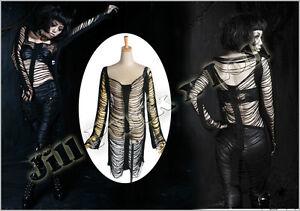 Punk-Visual-Sexy-Core-spider-enchantress-Mummy-bandage-sweater-hollow-top-M018-B