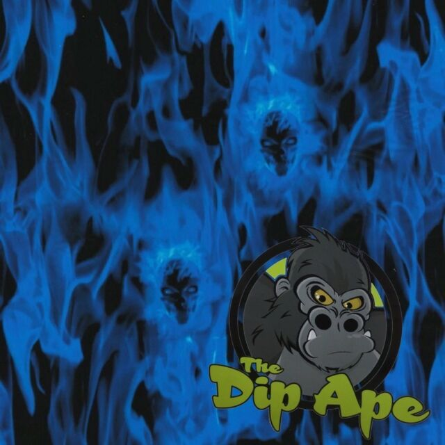 BLUE EYED VAMPIRE SKULLS HYDROGRAPHIC WATER TRANSFER HYDRO FILM DIP APE