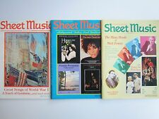 Sheet Music Magazine 1993 Issues WWI Songs Gershwin Hollywood Movies Matt Dennis