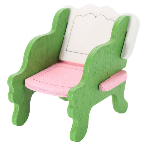 Retro Doll House Miniature Living Room Wooden Furniture Set Kids Role Play Toys