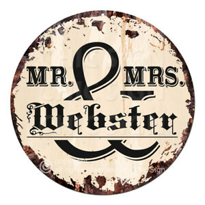 CPF-0418-MR-amp-MRS-WEBSTER-Rustic-Sign-Housewarming-party-Home-Decor-Gift