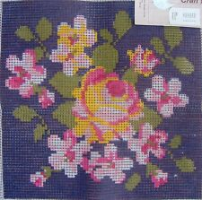Needlepoint CANVAS ONLY UNSTARTED Stitch /& Zip Pouches Floral Butterfly Flowers