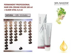 Details about PERMANENT PROFESSIONAL HAIR CREAM SPA COLOR 100ml SPA MASTER  - NATURAL