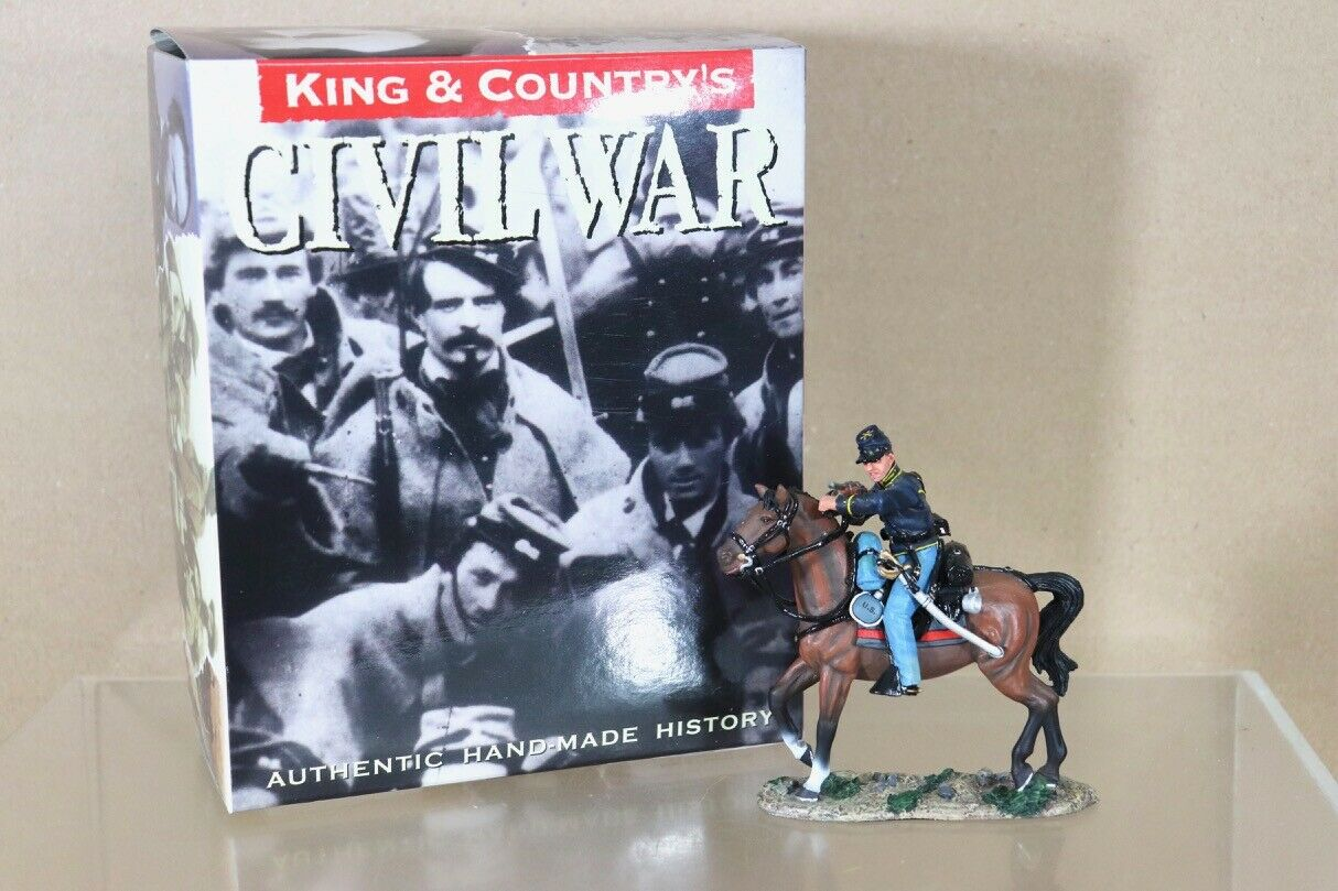 KING & COUNTRY CW062 AMERICAN CIVIL CIVIL WAR MOUNTED TROOPER AIMING CARBINE nu