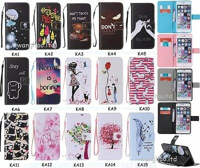 Cartoon Hybrid Printed Flip Book Design PU Leather Wallet Case Cover For Phone