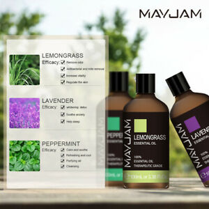 100ml-100-Pure-Natural-Essential-Oils-Therapeutic-Grade-Aromatherapy-Oil-MAYJAM