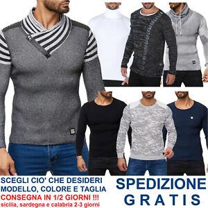 Pullover-Maglioncino-da-Uomo-Aderente-Maglia-in-Cotone-Slim-Fit-Maglione-Leggero