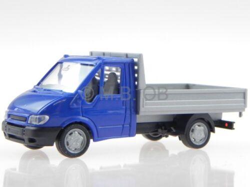 Ford Transit 2005 plataforma azul coche en miniatura Rietze 1:87